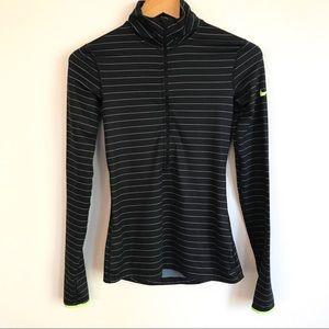NIKE PRO Dri-Fit Half Zipper Pullover Stripes XS